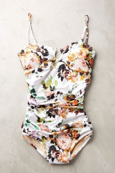 Sirena Ruched Maillot - anthropologie.com #anthrofave