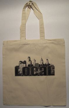 Philadelphia Local Canvas Bag by Do It Now T-shirts