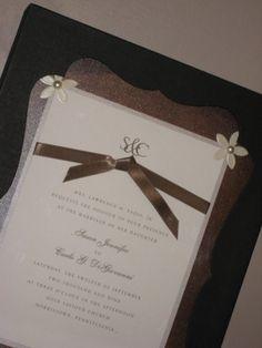 Wedding Invitation Keepsake Frame Black By ADayToRemember On Etsy 2800