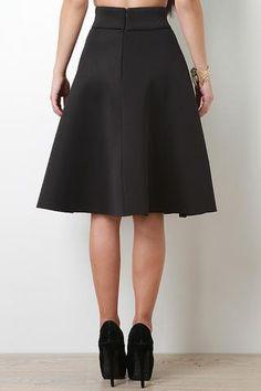 Neoprene Flow Midi Skirt - JP Murga's - 2