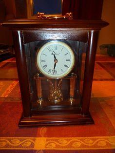 Vintage Antique Westclox Rotating Pendulum Mantel Clock Roman Numerals Rare find Vintage Mantel Clocks, Telling Time, Roman Numerals, Vintage Antiques, Roman Numeral Numbers