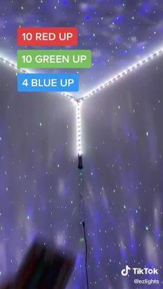 Led Room Lighting, Room Lights, Strip Lighting, Cool Bedrooms For Teen Girls, Led Light Strips, Led Strip, Led Diy, Room Tour, Lampe Led