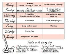 cleaning schedule by JulieF73