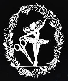 ballerina, showing the artistic expression of Karen Bit Vejle's cut paper art. (Image © Bjørn Sigurd Hove)