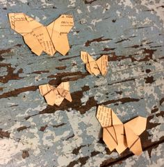 Create beautiful origami butterflies in varying scale