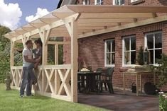Terrassenüberdachung online günstig kaufen ++Gratis-Versand++ There are many stuff that can certainly eventually entire your Pergola With Roof, Patio Roof, Pergola Patio, Backyard Patio, Gazebo, Rustic Houses Exterior, Porche, Getaway Cabins, Cladding