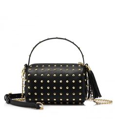 bd7db17724df Shoulder Bag Small Side Purse Mini Clutch with Bling Rivets - Black -  CV183O68Y97. Side PursesWomen s ...