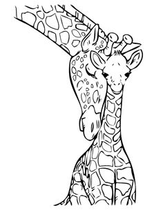 Coloring pages Printable Adult Coloring book Giraffe Clip Art Hand ...