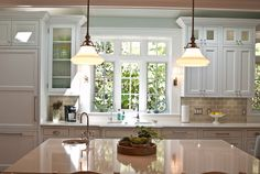 "#kitchen kitchen island - pendants should be 28-34"" above countertop"