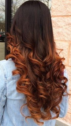 25 Stylish Copper Hair Color Ideas for 2019 Copper Hair Color Ideas in Fashion Trends for Different Lengths It is less and less common to meet a girl who would be satisfied with her n. Red Ombre Hair, Burgundy Hair, Hair Color Balayage, Pink Hair, Hair Colour, Copper Balayage, Dark Brown Hair With Blonde Highlights, Hair Highlights, Dark Blonde