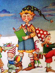 Illustrated by Mary Engelbreit. The Night Before Christmas. Mary Christmas, The Night Before Christmas, Christmas Art, Mary Engelbreit, Sketch Painting, Coloring Book Pages, Elves, Illustrations Posters, I Card
