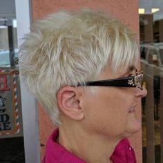 Choppy Blonde Pixie 50+