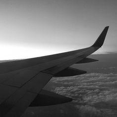 High #altitude #sunrise #bnw #plane #monochrome #blackandwhite