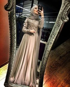 New Dress Brokat Hijab Model Ideas Hijab Outfit, Hijab Prom Dress, Hijab Gown, Hijab Evening Dress, Muslim Wedding Dresses, Muslim Dress, Bridal Dresses, Dress Outfits, Evening Dresses