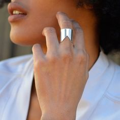 Lorraine West Jewelry - Chevron Ring Sterling Silver