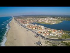 Praia de Mira and Barrinha lagoon aerial view - YouTube
