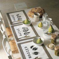 Des sets de table réalisés avec des photocopies