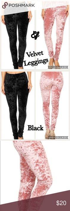 Coming....Velvet Leggings... CUTE! Velvet Leggings... Perfect for Holidays or Winter Wear. Have Black Coming... but can order Gray or Wine. Comfy & Stylish! EF Pants Leggings