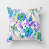 Throw Pillow featuring Thinking of You by RokinRonda