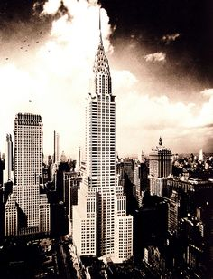 Chrysler Building photographed by Wurts Bros. 1931