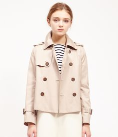 ROPÉ PICNIC(ロペピクニック)|WEB限定42サイズあり!ギャバショートトレンチコート Short trench coat|GRAY #J'aDoRe JUN ONLINE #J'aDoRe Magazine