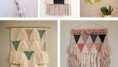 5 tutoriales sencillos en vídeo para hacer un tapiz con telar Macrame, Curtains, Shower, Blanket, Rugs, Wall, Prints, Home Decor, Textiles