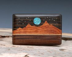 Neat inlaid wooden belt buckle