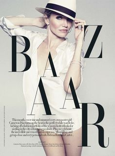 Image Amplified. The Flash and Glam of All Things Pop Culture: Photography, Music, Fashion, Film and Art. - HARPER'S BAZAAR UK: Cameron Diaz by Photographer Tom Munro