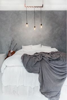 40 Luxurious Grey Bedroom Designs You Will Adore Grey Bedroom With Pop Of Color, Grey Bedroom Design, Gray Bedroom, Bedroom Inspo, Home Bedroom, Bedroom Decor, Bedroom Designs, Bedrooms, Bedroom Ideas