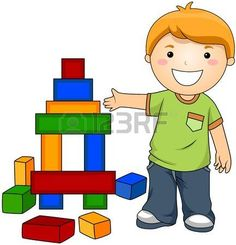 Boy with Toy Blocks