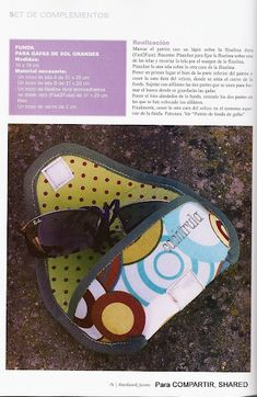 Eyeglass case rte----Artesanato Dona A Sewing Art, Free Sewing, Sewing Crafts, Sewing Projects, Bag Patterns To Sew, Sewing Patterns, Sewing Hacks, Sewing Tutorials, Sew Wallet