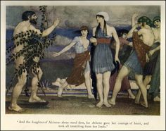 Odysseus and Nausicaa, Illustration by William Russell Flint from a version of The Odyssey of Homer