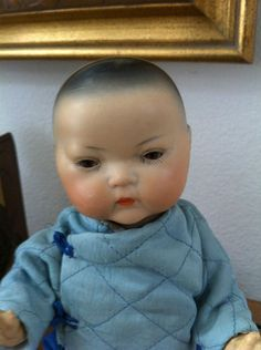 Rare Asian Armand Marseille Antique doll