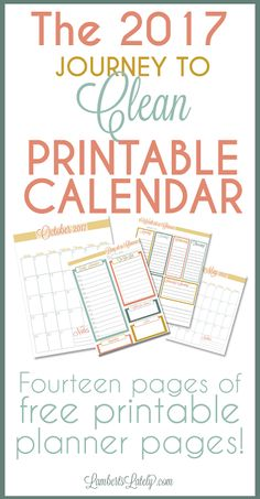 I love this colorful 2017 calendar printables...such an adorable way to make a free DIY planner!  The design is so cute and easy to follow.