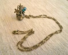 Vintagestyle Necklace Dragonfly Pendant Locket by SandstormArt, €19.99