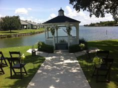 April Sound Country Club. Montgomery TX. Lake Conroe Weddings. Waterfront Receptions. #cartersflorists #amemorableevent Wedding Venues Texas, Waterfront Wedding, Receptions, My Dream, Gazebo, Outdoor Structures, Events, Wedding Ideas, Club