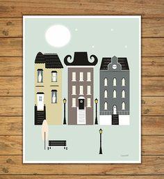 laminas ciudades laminas a3 laminas imprimibles por Ilustracionymas