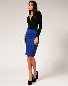royal blue skirt, check. mustard sweater, check. | Posh Poodle ...