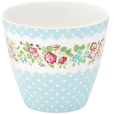 Latte cup Ivy pale blue