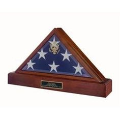 Triangle Flag Display Case - Memorial Flag Case Hand Made By Veterans