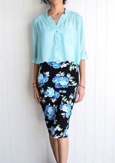Floral Katelyn Pencil Skirt S to 3XL {Jane Deals}