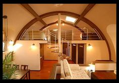 - No, these are not hobbit homes but modular kit homes made from 7 inch thick styrofoam. The Japan Dome House Co. Monolithic Dome Homes, Geodesic Dome Homes, Hut House, Dome House, Building Design, Building A House, Green Building, Quonset Hut Homes, Mini Loft