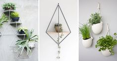 Here are 10 examples of modern and stylish wall mounted planters that will help you get your plants off your surfaces and onto your walls.