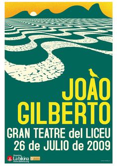 Joao Gilberto by Ivan Solbes Samba, Typo Poster, Jazz Poster, Norman Rockwell, Typography Layout, Cool Posters, Design Posters, Concert Posters, Music Posters