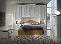 Camera con armadio ponte - interamente in legno massiccio di pino - prodotto 100% italiano.  #furniture #bedroom #moderncountry #design #wardrobe  www.demarmobili.it