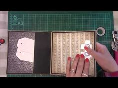 Jak zrobić zamknięcie do minialbumu przy użyciu gumki i guzika, scrapbooking tutorial - YouTube