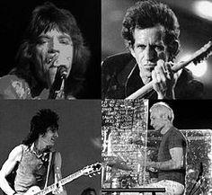 Rolling Stones members montage. // Banda británica de rock creada en 1963.