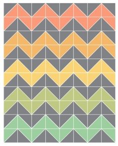 easiest ever chevron quilt (no triangles!) I LOVE this pattern ... : chevron quilts patterns - Adamdwight.com