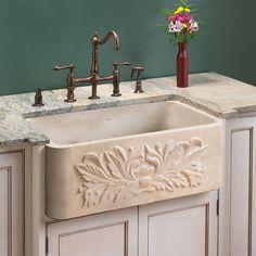 "Ivy Polished Marble Single-Bowl Farmhouse Sink - 24"", 30"""