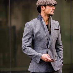 """With David, @davidgandy_official wearing @marksandspencer #suit and #olny #hat.  Photo @samir_benson  #lcm #bfc #thefashionpiece #davidgandy #tailoring…"""